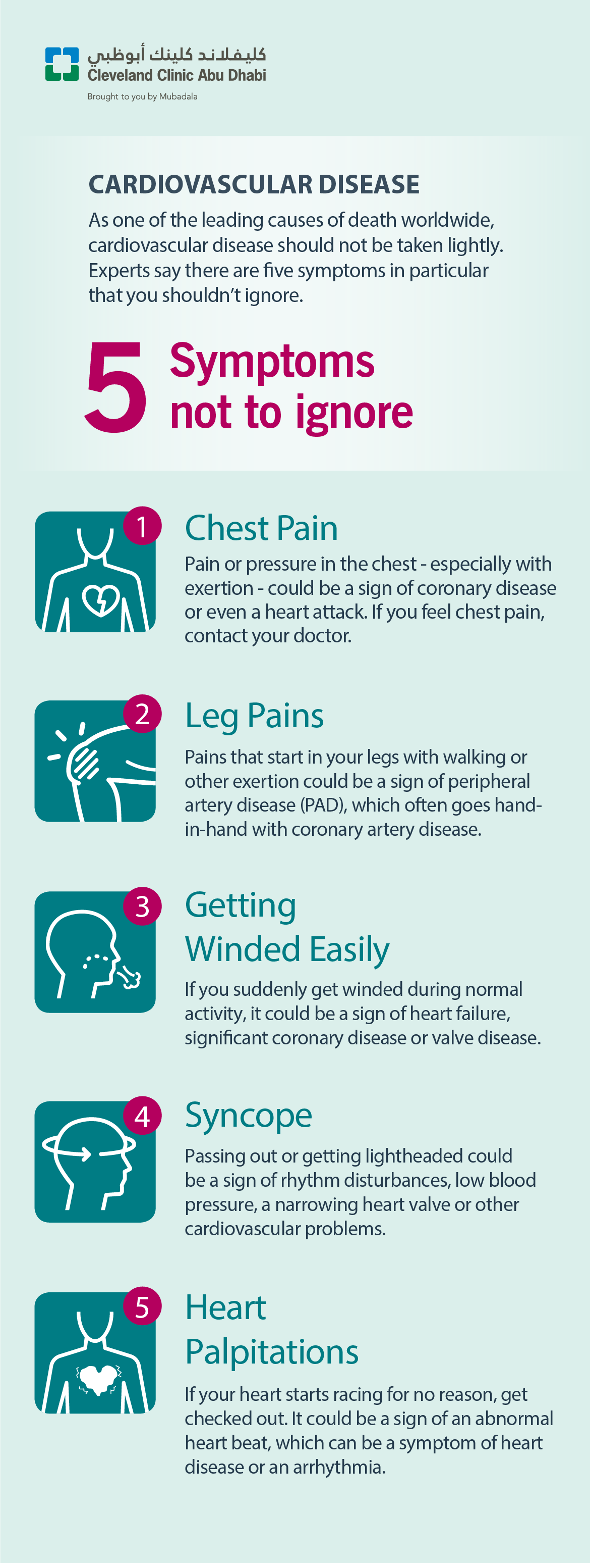Cardiovascular Disease: 5 Symptoms Not to Ignore